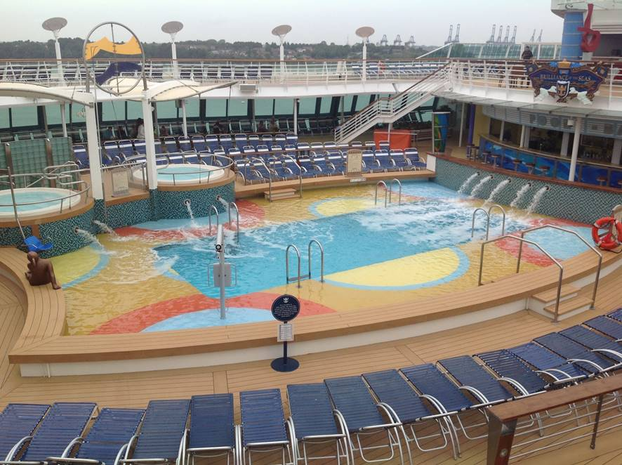 """You can tell a lot about a cruise ship by their pools"" – Quote by Caribbean Travel Life"